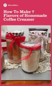 homemade coffee creamer in glass jars for gift giving
