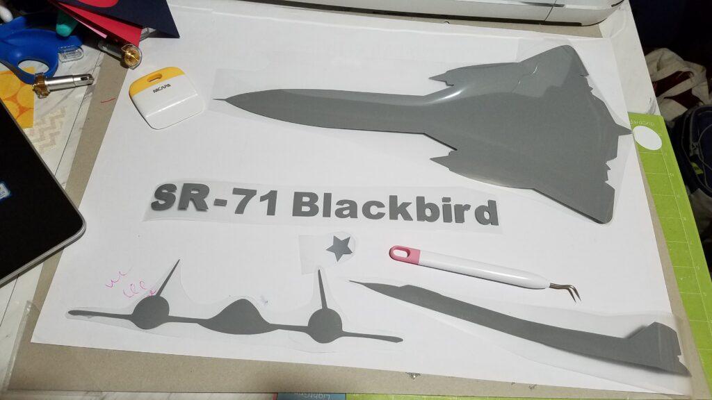 SR-71 Blackbird shapes for t shirt