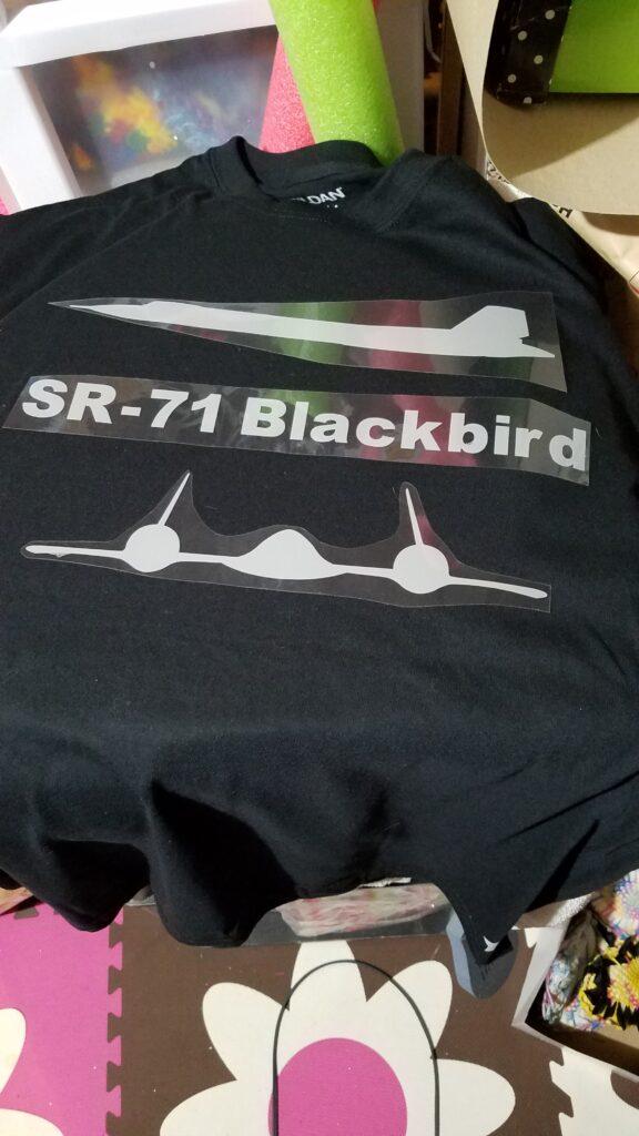 Stealth airplane cricut for tshirt