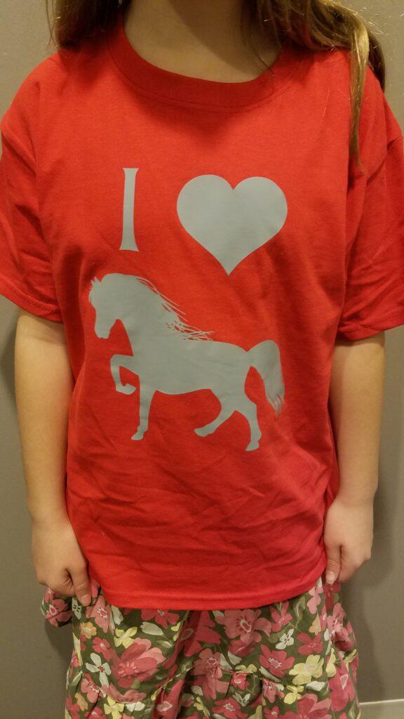 I heart Horses tshirt