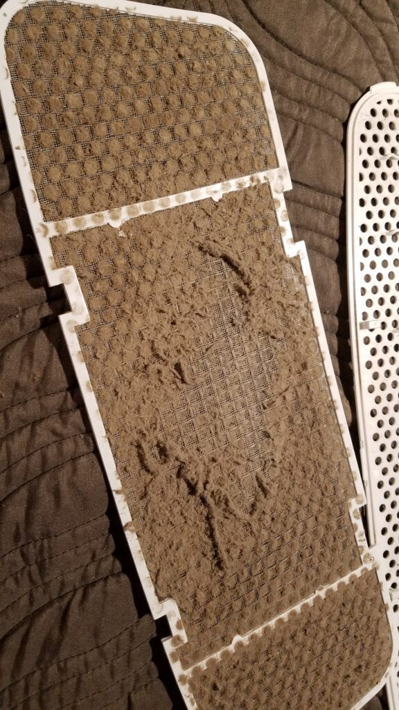 dirty camper ceiling AC filter