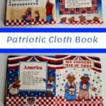pages of a patriotic fabric cloth book