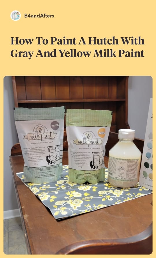 gray and yellow milk paint powder bags from Miss Mustard Seed Milk Paint