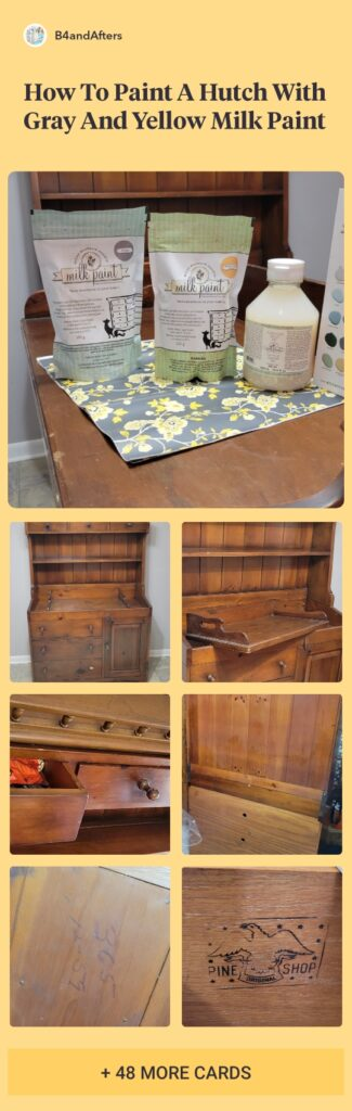 Painting a Hutch in Milk Paint by Miss Mustard Seed picture collage