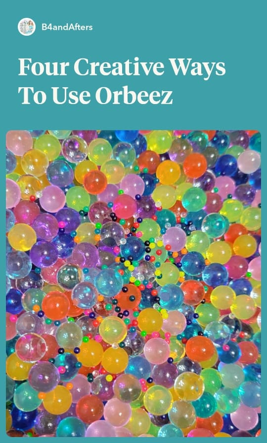 Orbeez seeds with orbeez that have grown in water