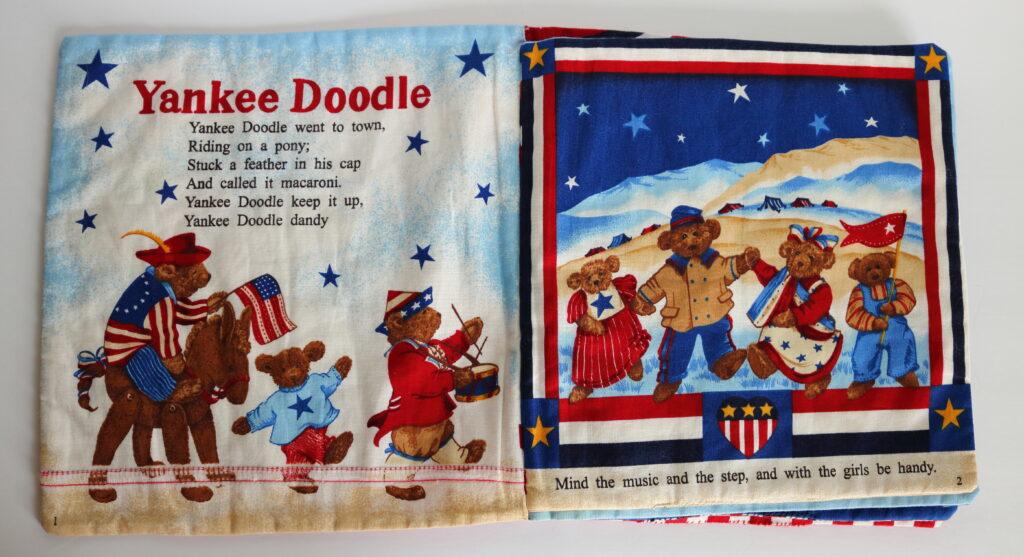 Yankee Doodle cloth child's patriotic book