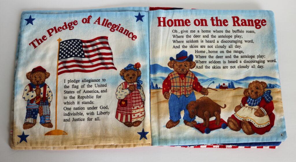 Cloth children's patriotic fabric book