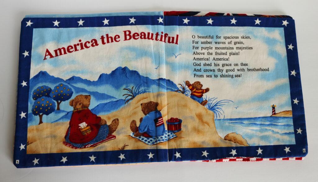 America the Beautiful in cloth children's book
