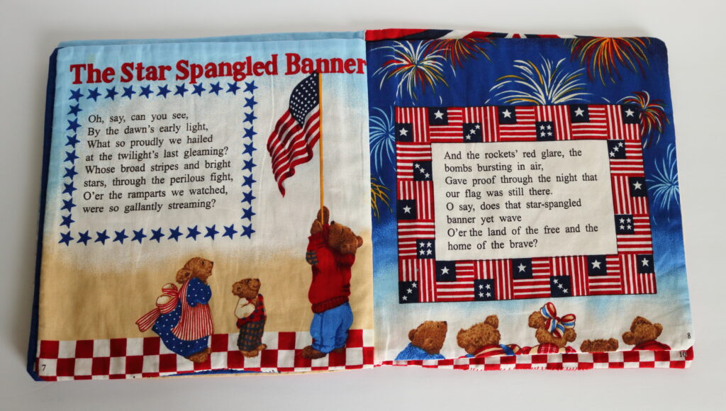 The Star Spangled Banner on fabric