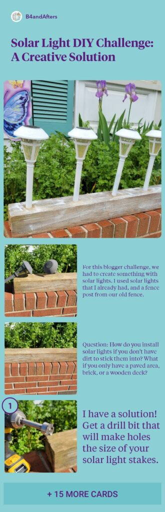 solar light fence post step by step