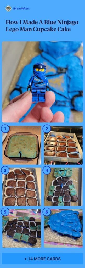 How to make a blue ninjago lego cake step by step