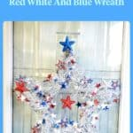 starry red white and blue wreath
