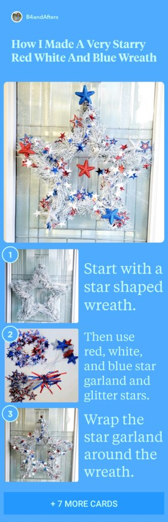 starry patriotic wreath step by step instructions