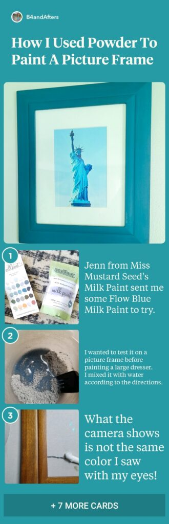 Statue of Liberty in a DIY painted frame