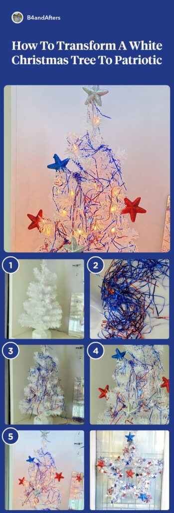 red white and blue Patriotic Christmas tree