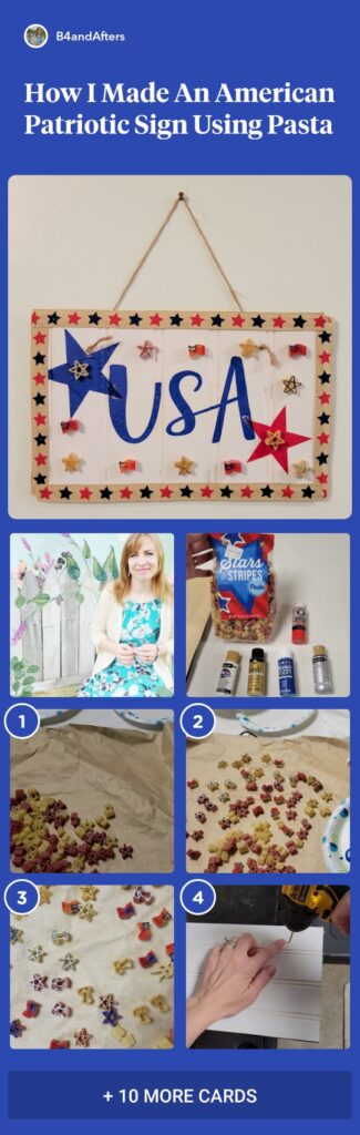 Easy DIY Patriotic Sign with beadboard