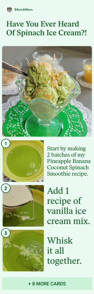 how to make healthy spinach ice cream step by step