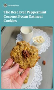 Peppermint Coconut Pecan Oatmeal cookie