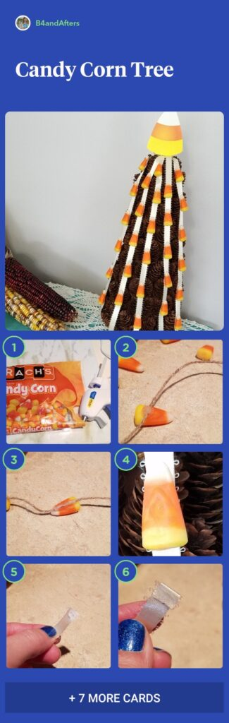 candy corn tree step by step
