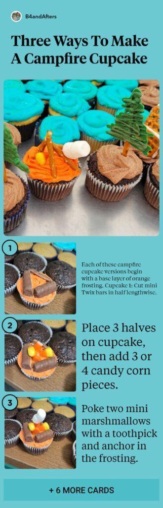 how to make a campfire cupcake