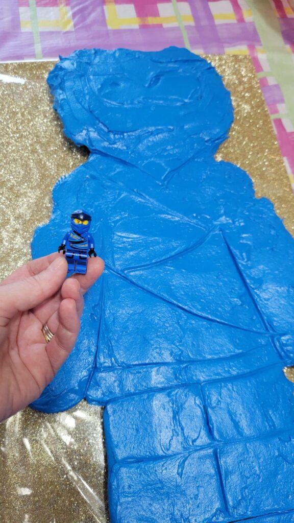 Blue mini Lego man