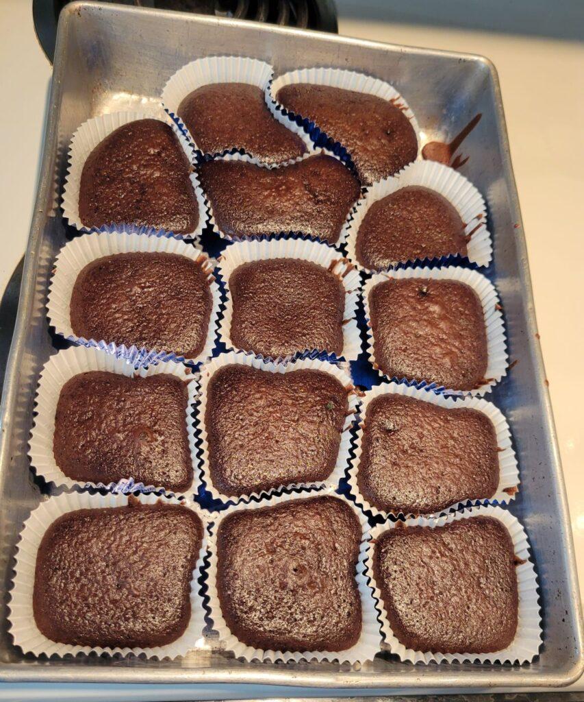 choc cupcakes