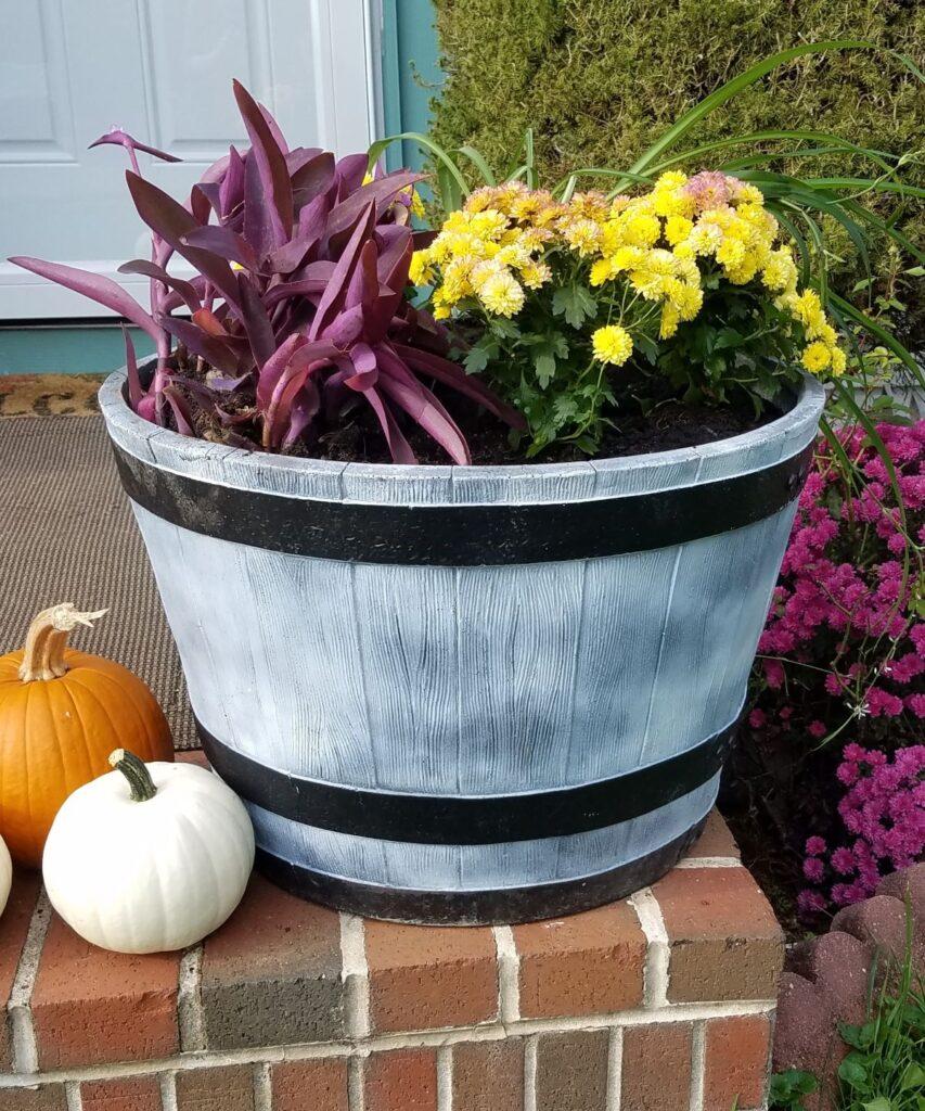 jumbo planter for fall