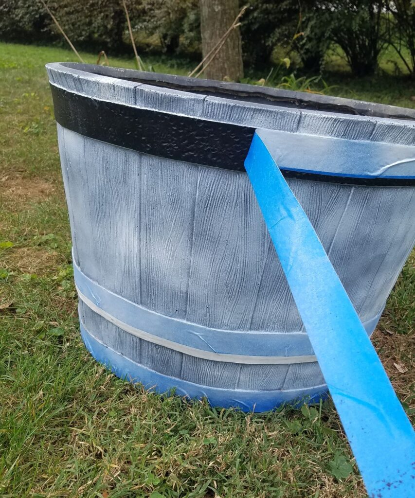 pulling blue painters tape off