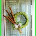 Cattail wreath on front door