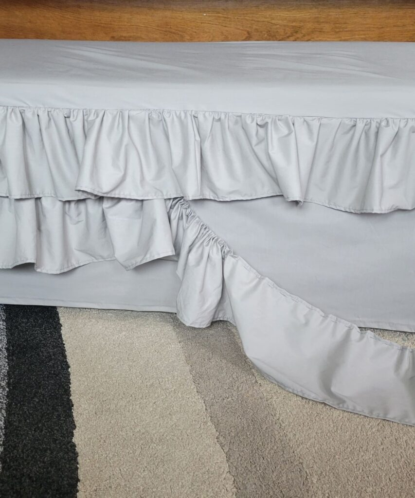 adding a ruffle to a slipcover