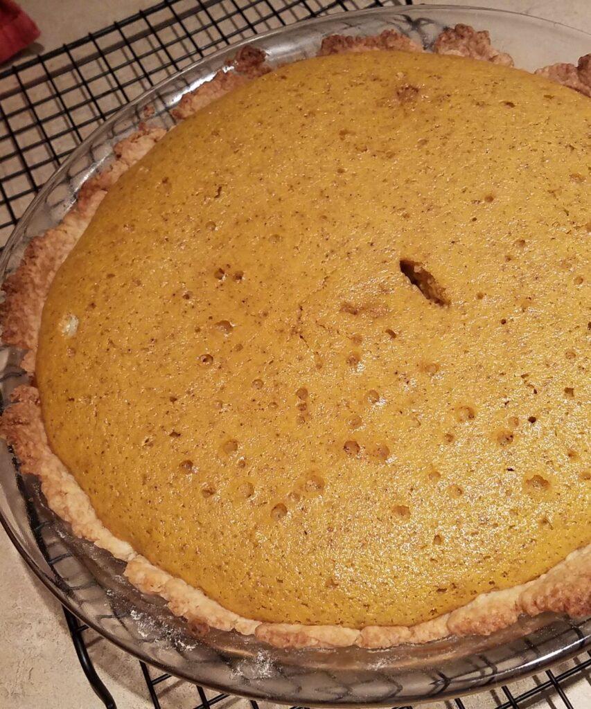 baked pumpkin praline pie