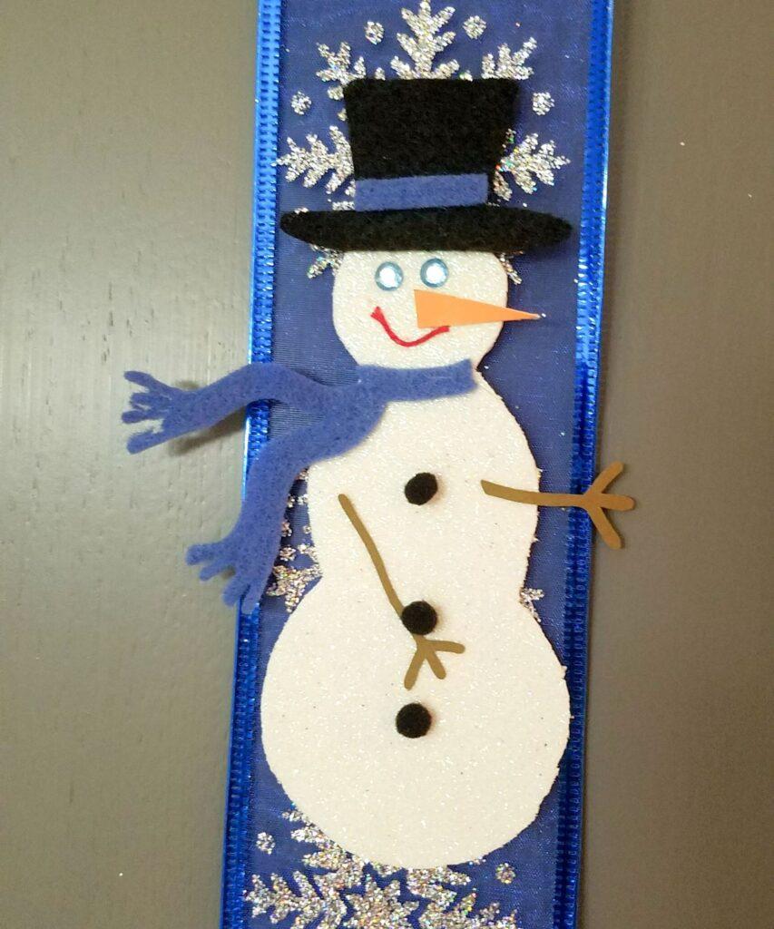 closeup of snowman craft
