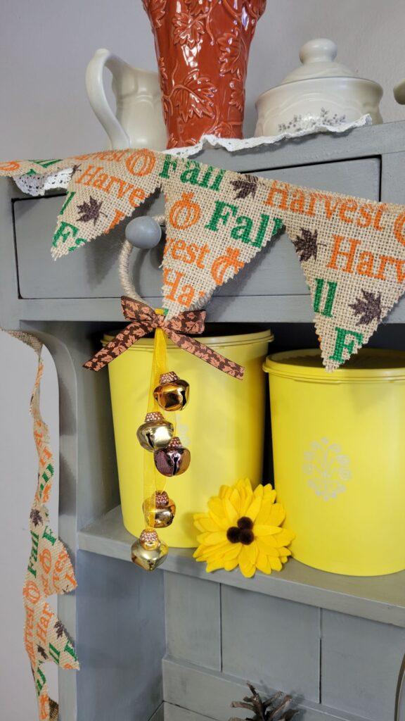 fall jingle bell door hanger