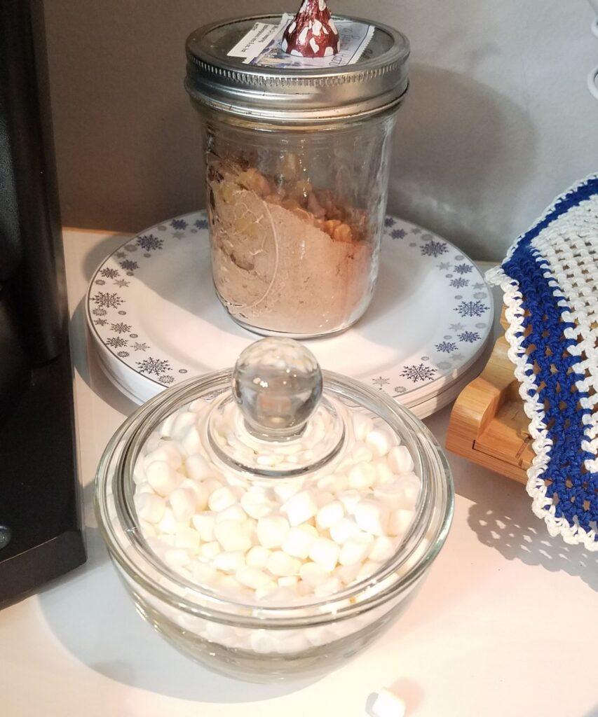 mini marshmallows in jar