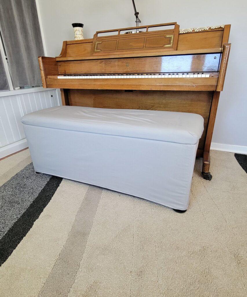 plain piano bench cover