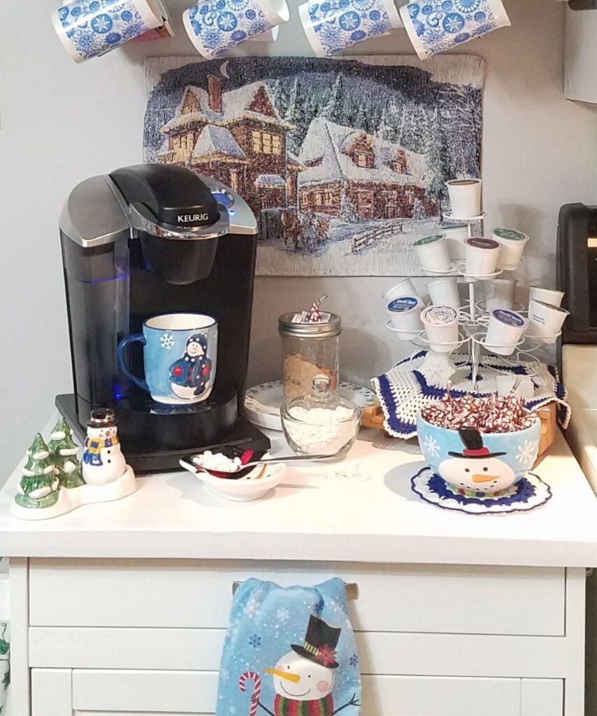 snowman coffee station