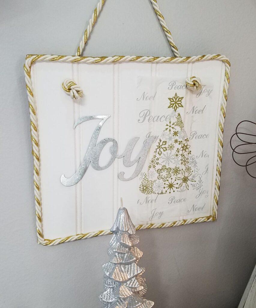 Joy beadboard sign