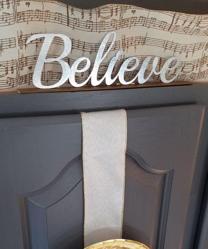 Believe metal word