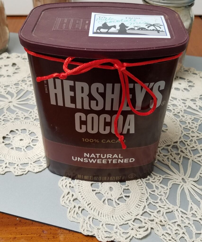 Hershey Cocoa container