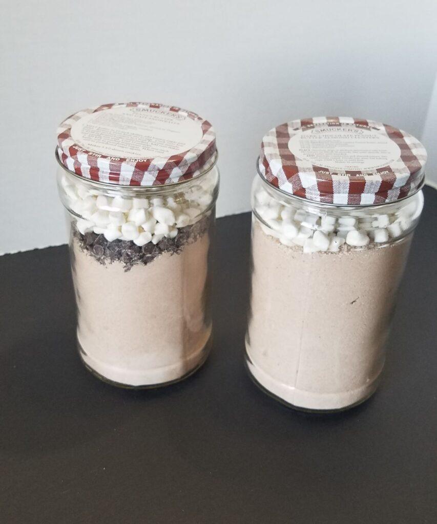 coffee creamer in peanut butter jars