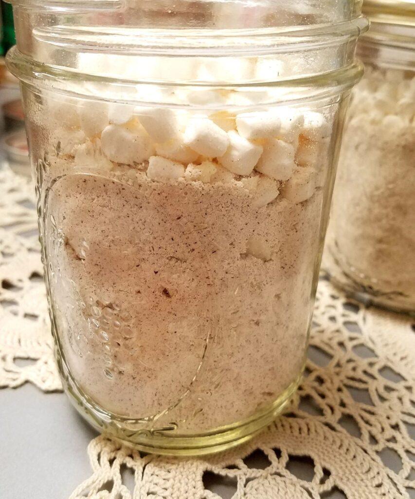 powder in a jar