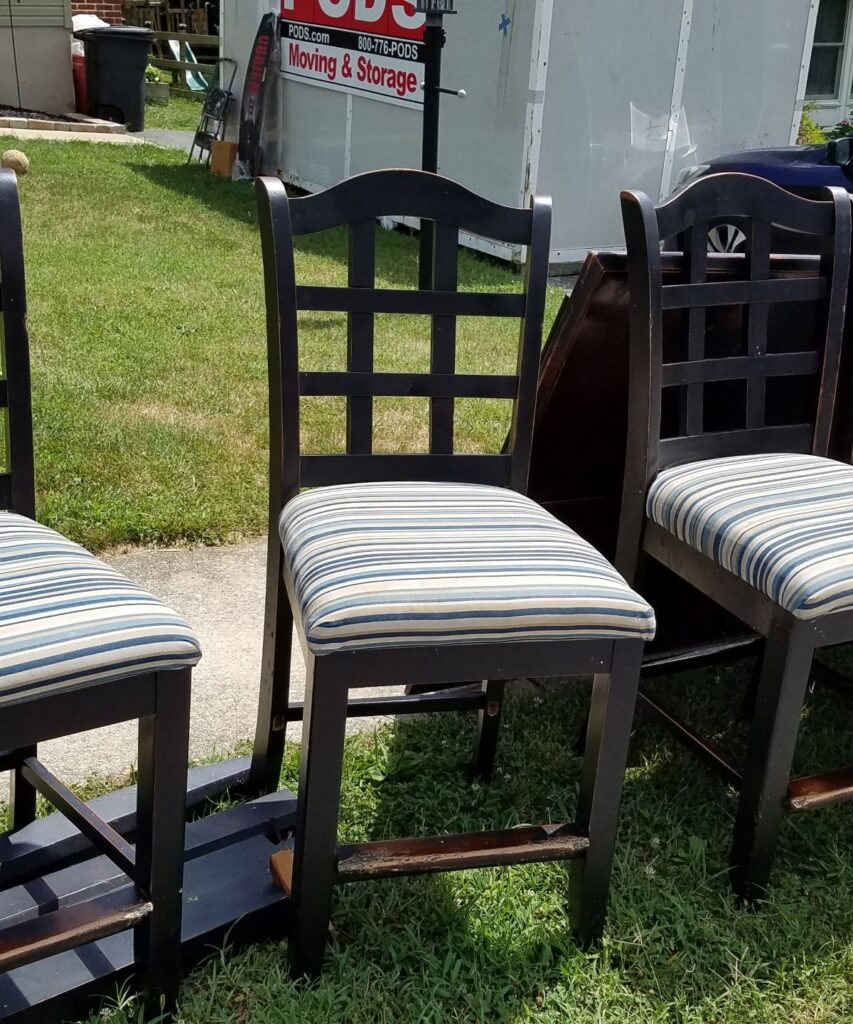 old black dining chair