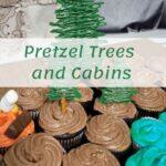 pretzel trees on cupcakes