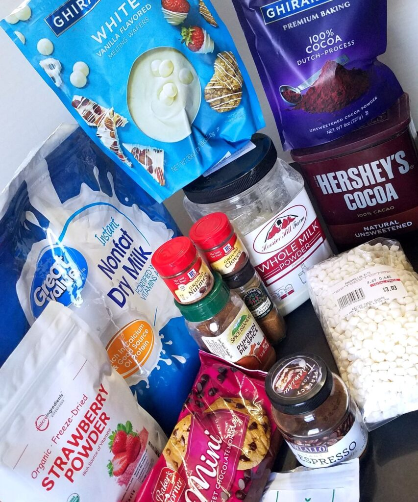 ingredients needed for DIY coffee creamer