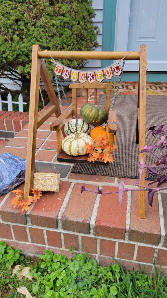 mini fall swing decor