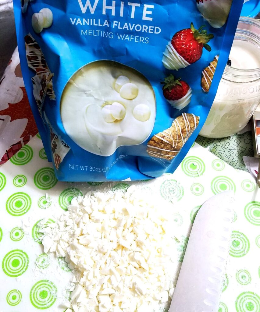 chopped white chocolate bits