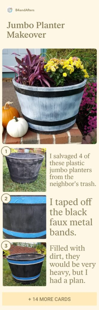 how to plant a jumbo planter step by step
